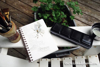 outdoor sketching of spider - scratchmadejournal.com