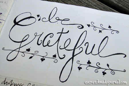 be grateful lettering - scratchmadejournal.com