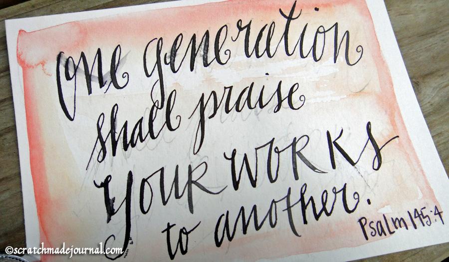 hand lettering foul - scratchmadejournal.com