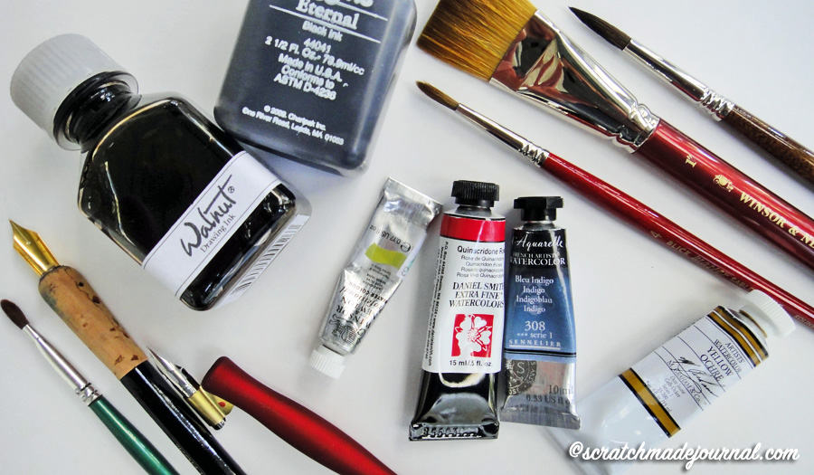 I own quite a few different brands of journaling and art supplies, and I am happy with almost all of them. Look for bonus buys (like buy 5 paints, get one free), coupons, and sales to gain quality tools on a budget.