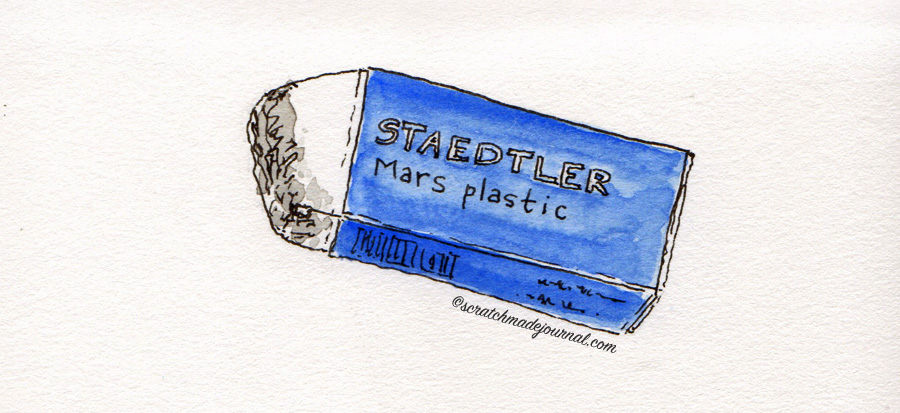 Staedtler Mars eraser sketch - scratchmadejournal.com