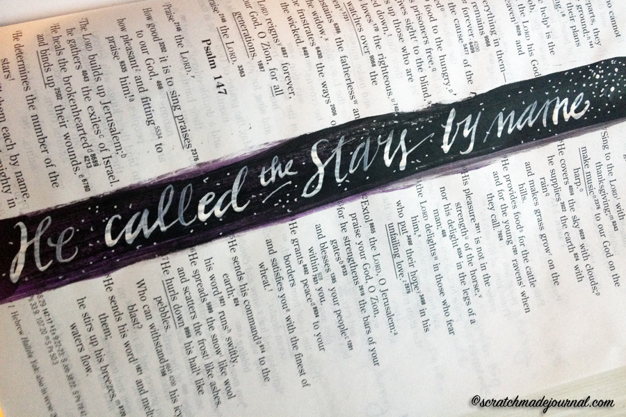 God names the stars Psalm 145 - scratchmadejournal.com