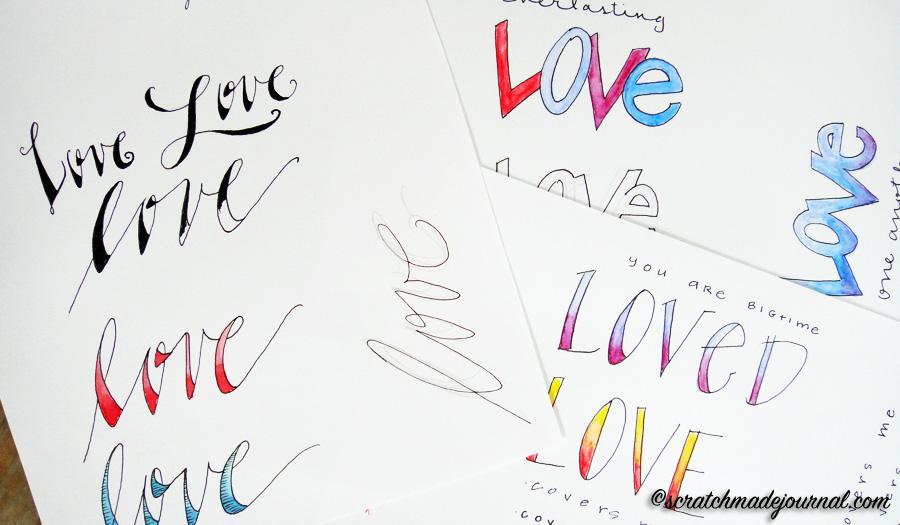 hand lettering fonts tutorial - scratchmadejournal.com