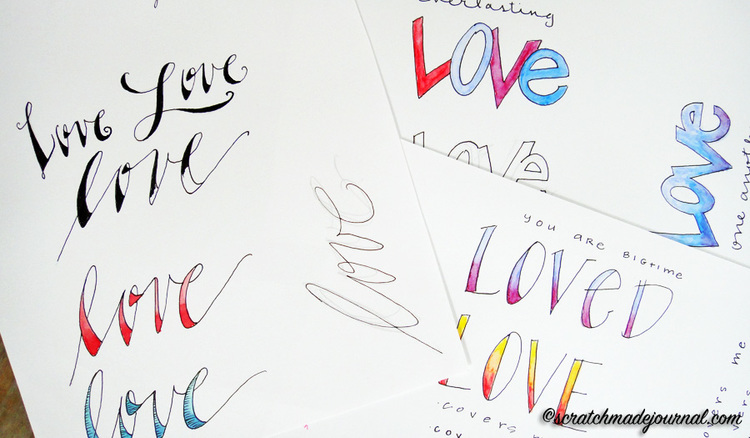 3 Easy Hand Lettering Fonts PLUS A Printable