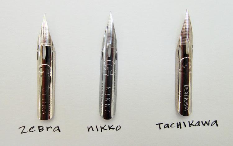 Comparing Nikko G Vs Zebra Tachikawa Nibs
