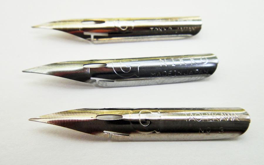Calligraphy G nib comparision - scratchmadejournal.com