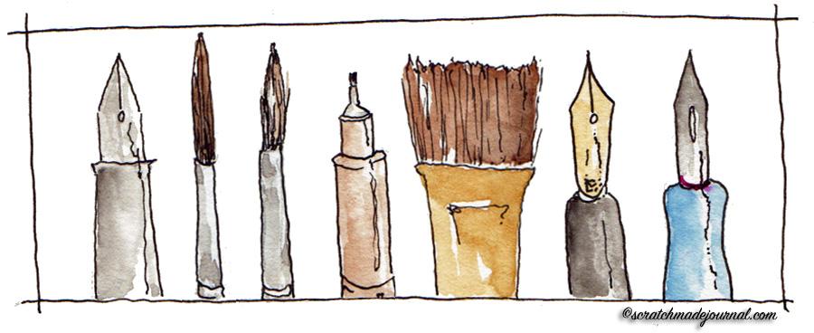 sketching tools - scratchmadejournal.com