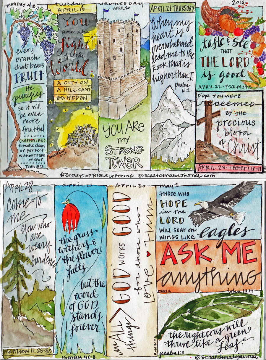 Bible journaling calendar illustration - scratchmadejournal.com