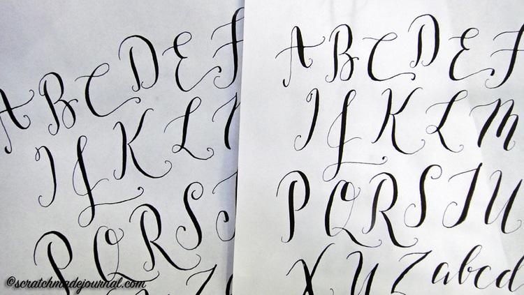 I Had Much Better Results Penning Modern Calligraphy Using My Tachikawa G Nib Left