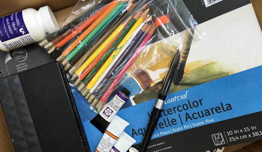 Tool failure! Unfortunately these art supplies didn't work for me so I've set them aside to donate.