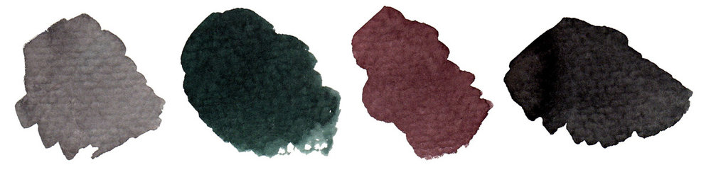 Phthalo green  (PG7) +  Perm Alizarin crimson  (PR264)