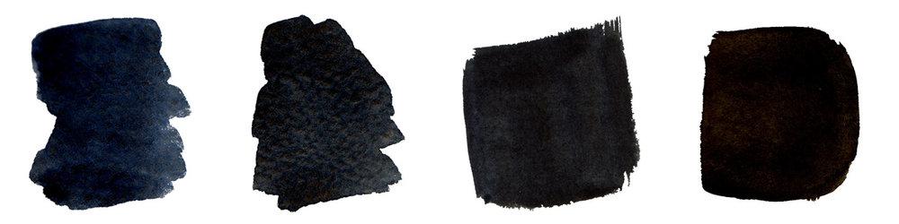 Raw Umber (PBr7) + Indanthrone Blue (PB60)