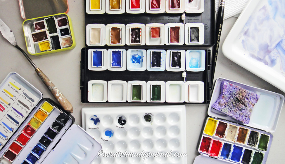 Tips for choosing the perfect watercolor palette - scratchmadejournal.com