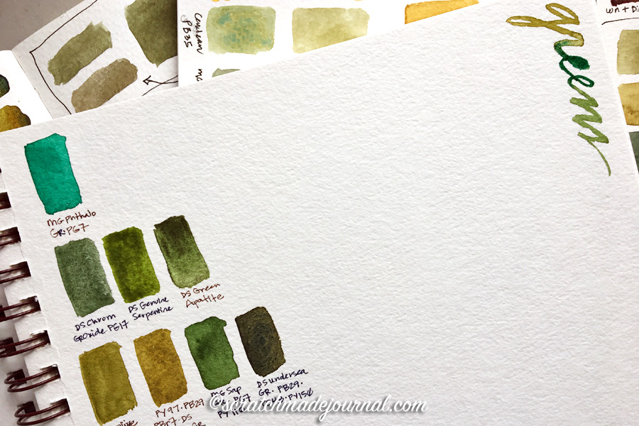 Tips for organizing a watercolor mixing sketchbook - scratchmadejournal.com