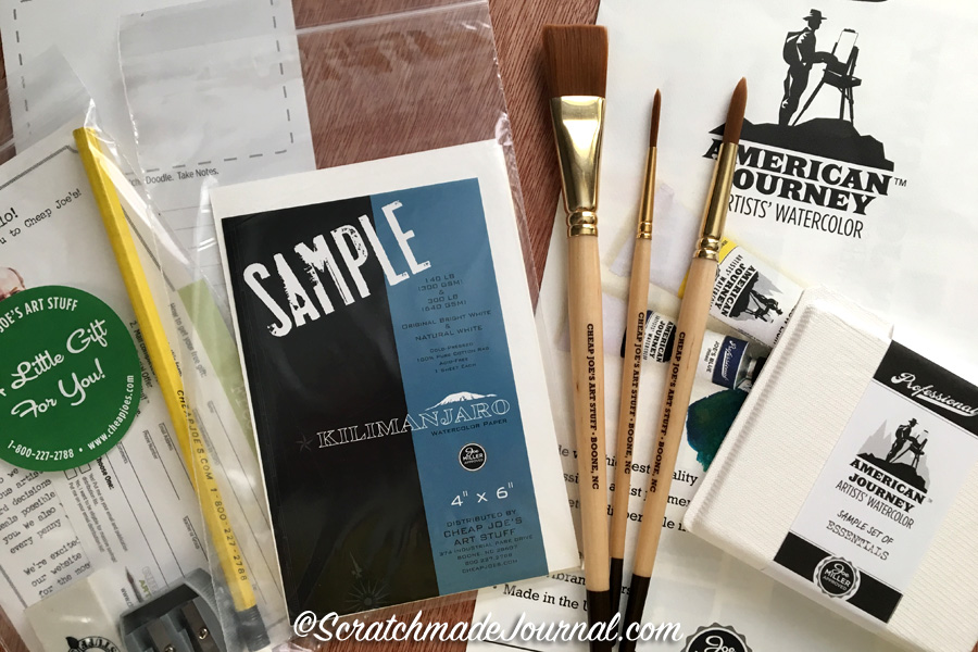 A great giveaway to kickstart World Watercolor Month! A amazing Cheap Joe's sample set - ScratchmadeJournal.com