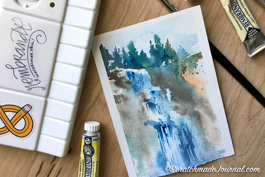 Complete review of Royal Talens Rembrandt Watercolors - ScratchmadeJournal.com