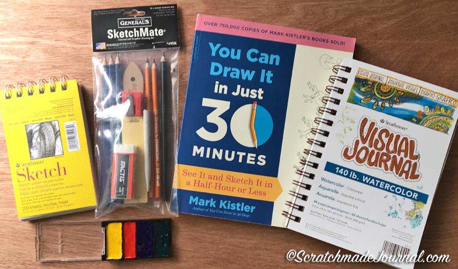 Strathmore Sketching Set Giveaway - ScratchmadeJournal.com