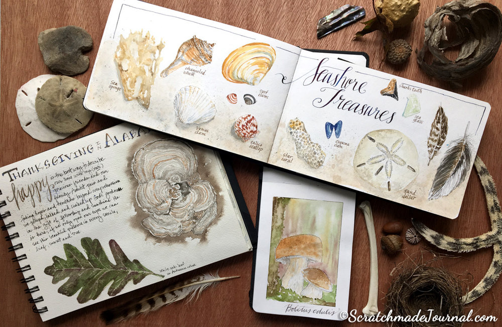 Nature journals & sketches - ScratchmadeJournal.com