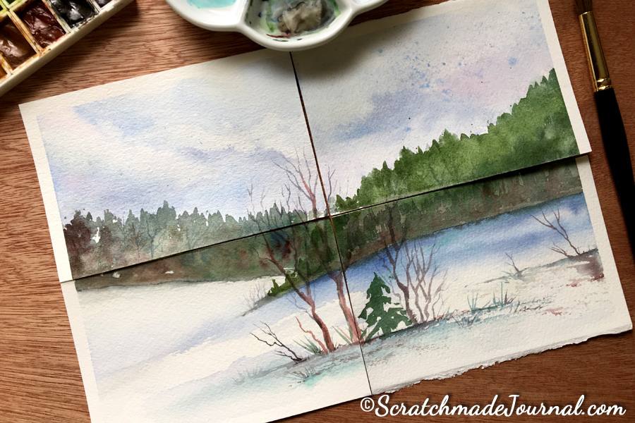 Comparing 4 favorite watercolor paper brands - ScratchmadeJournal.com