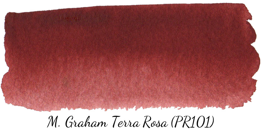M Graham Terra Rosa (PR101) watercolor swatch - ScratchmadeJournal.com