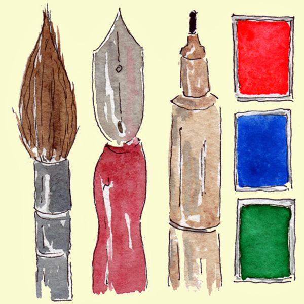 Art & watercolor supplies sketch tab - ScratchmadeJournal.com