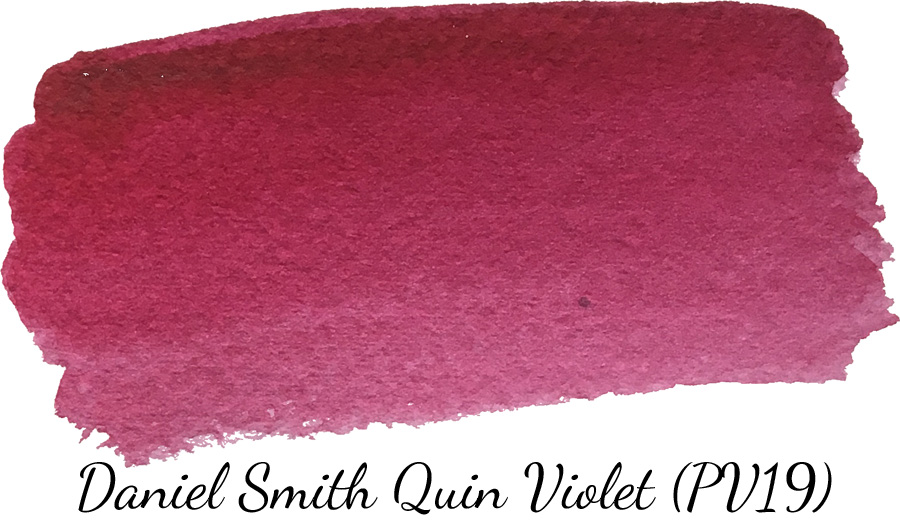 Daniel Smith quinacridone violet watercolor swatch - ScratchmadeJournal.com