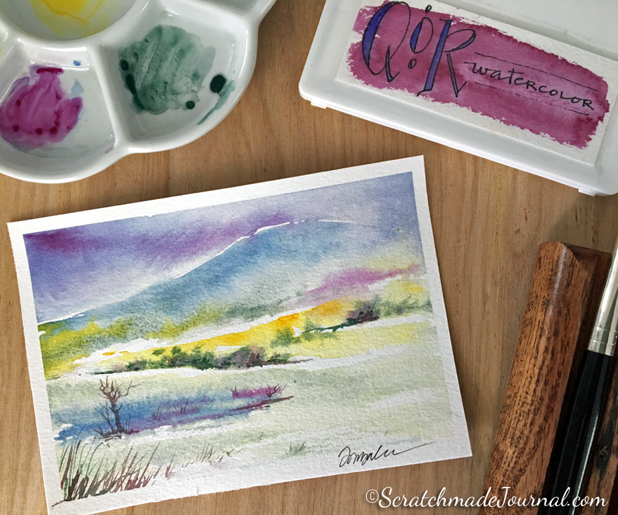 QoR Modern Watercolor Review - ScratchmadeJournal.com