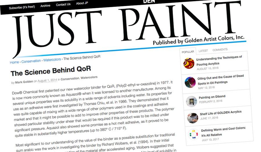 Golden Paints's blog with in-depth QoR information - ScratchmadeJournal.com