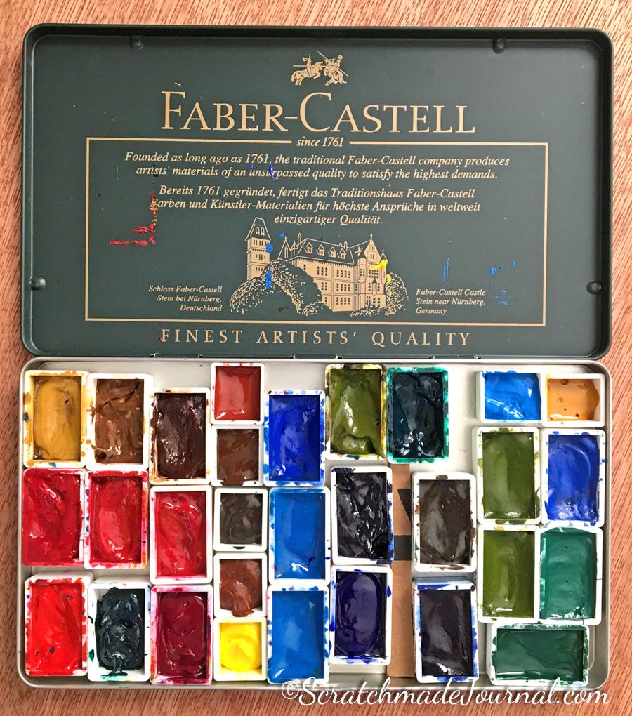 Metal pencil tin for a DIY watercolor palette - ScratchmadeJournal.com