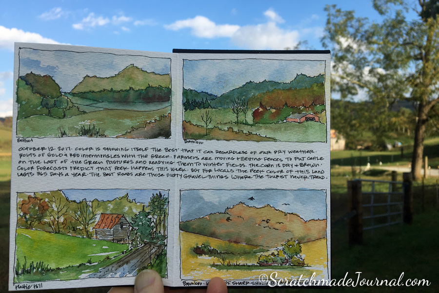 After my landscape faux pas, I spent an afternoon enjoying the autumn weather and sketching these 10-minute landscape studies. Focusing on basics can be a blast!