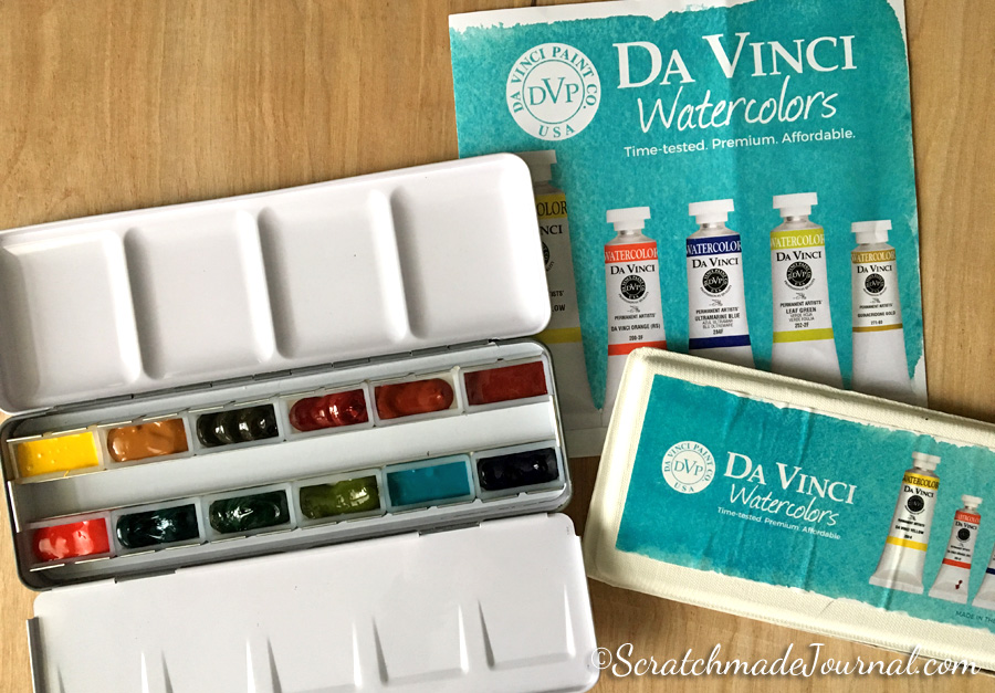 Da Vinci Watercolor Giveaway - ScratchmadeJournal.com