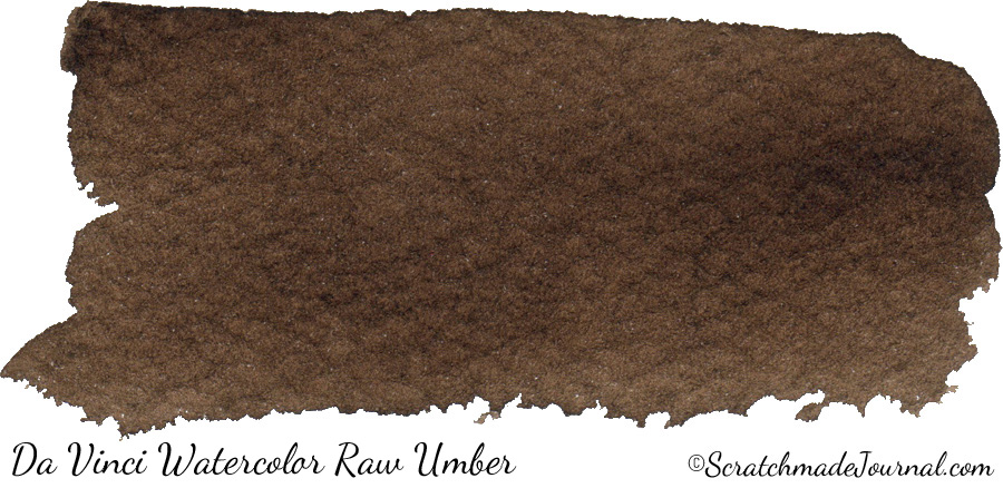 Da Vinci Watercolor Raw Umber PBr7 - ScratchmadeJournal.com