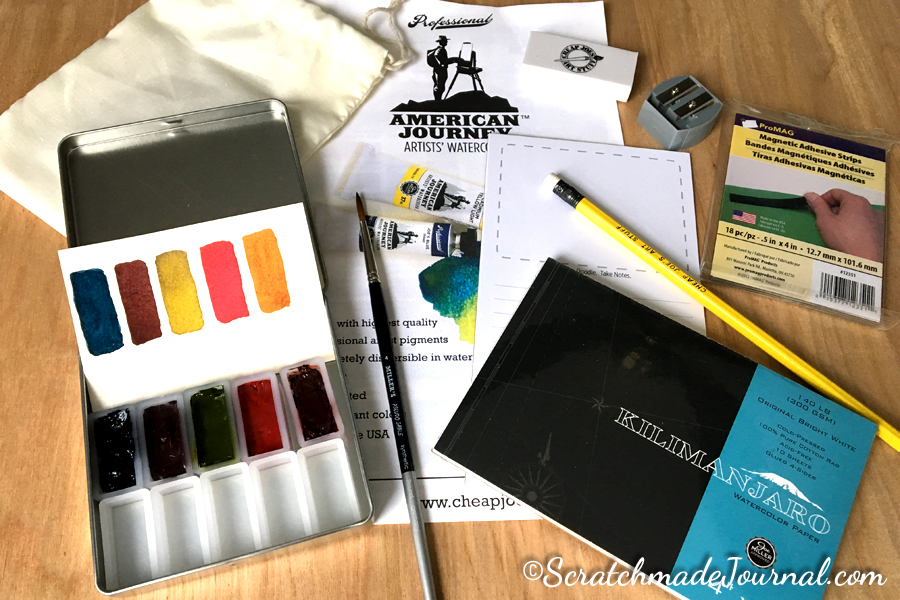 American Journey watercolor supplies giveaway - ScratchmadeJournal.com