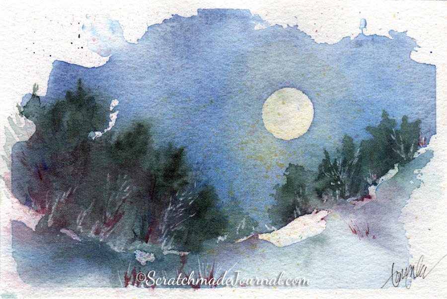 January's Blue Moon Rising — Scratchmade Journal