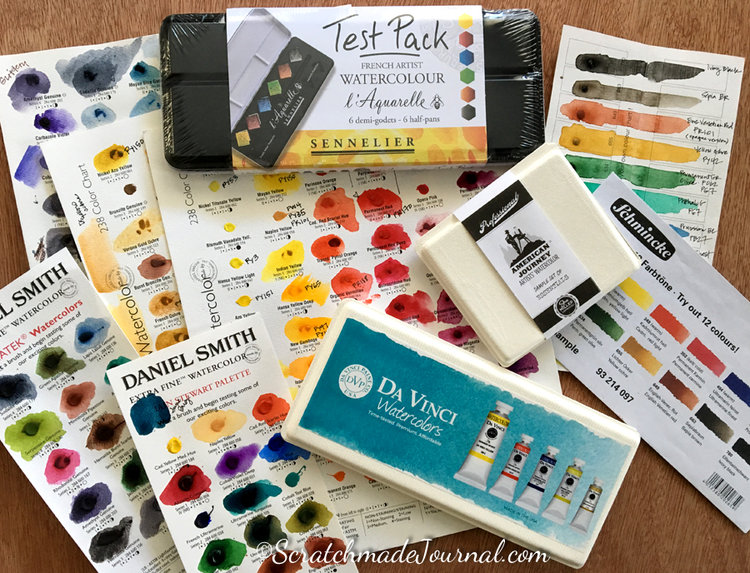 e8b12a0c5 Shopping for watercolor sample sets - ScratchmadeJournal.com