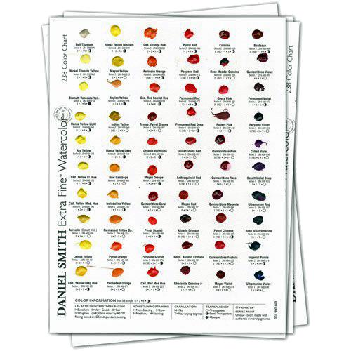 Daniel Smith watercolor dot card sets - ScratchmadeJournal.com