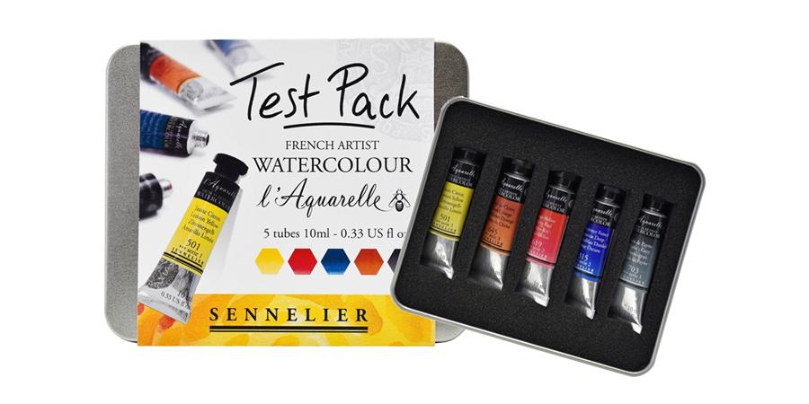 Sennelier watercolor test pack & sample sets - ScratchmadeJournal.com