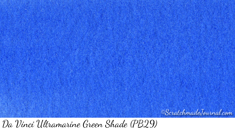 Da Vinci Ultramarine Green Shade watercolor swatch - ScratchmadeJournal.com