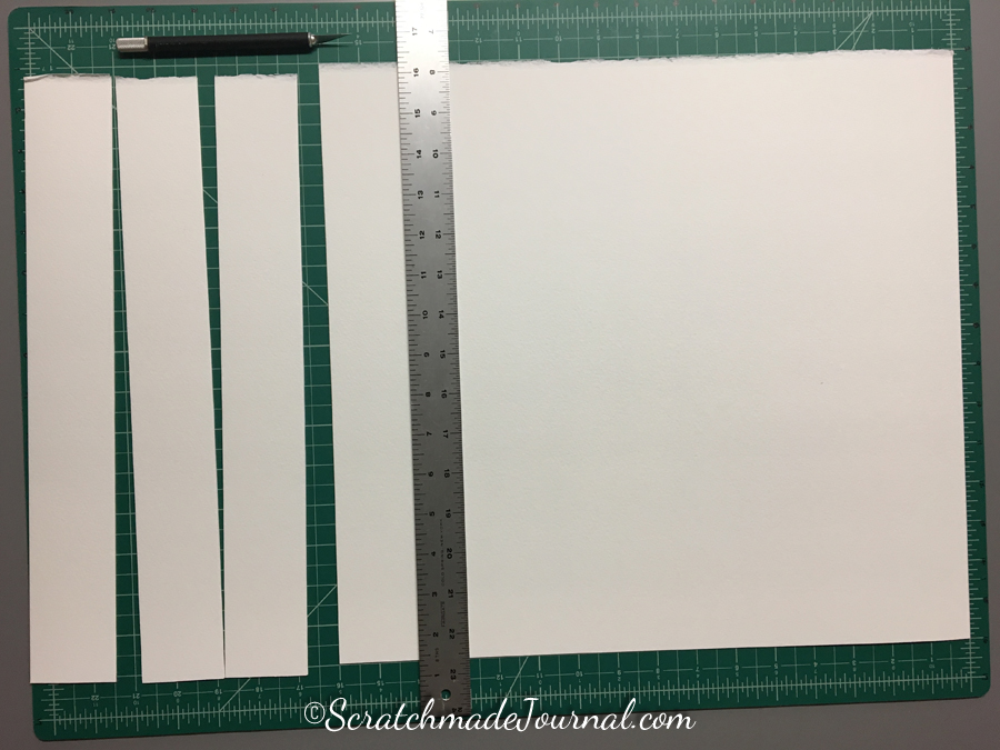 Step 2 of the DIY watercolor paint chip tutorial at ScratchmadeJournal.com