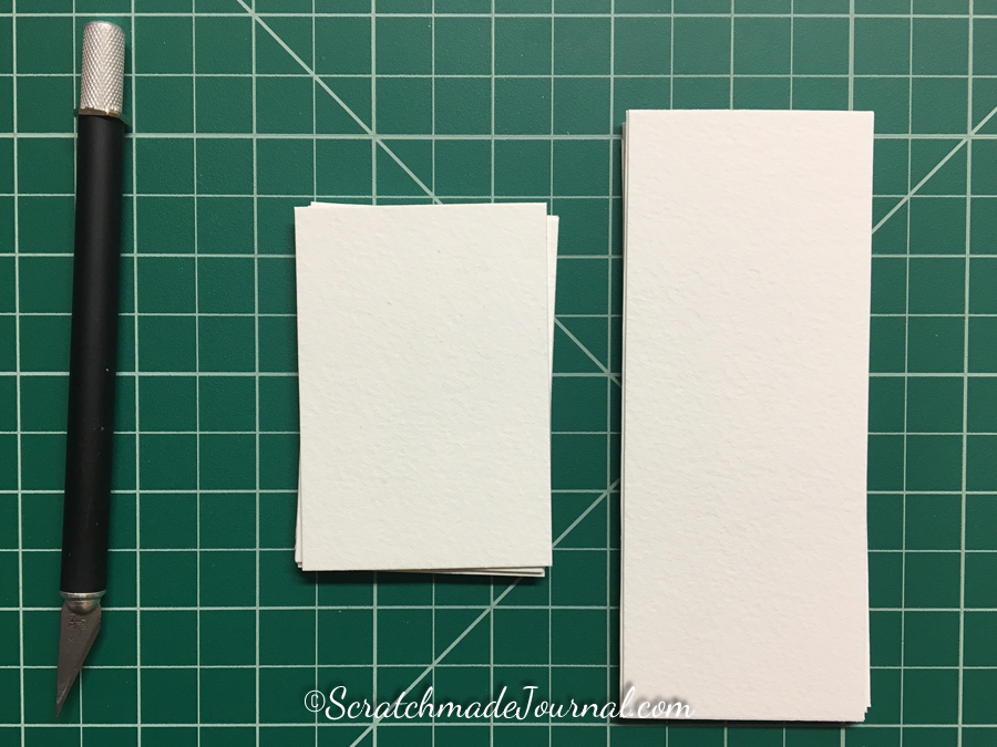 Step 3 of the DIY watercolor paint chip tutorial at ScratchmadeJournal.com