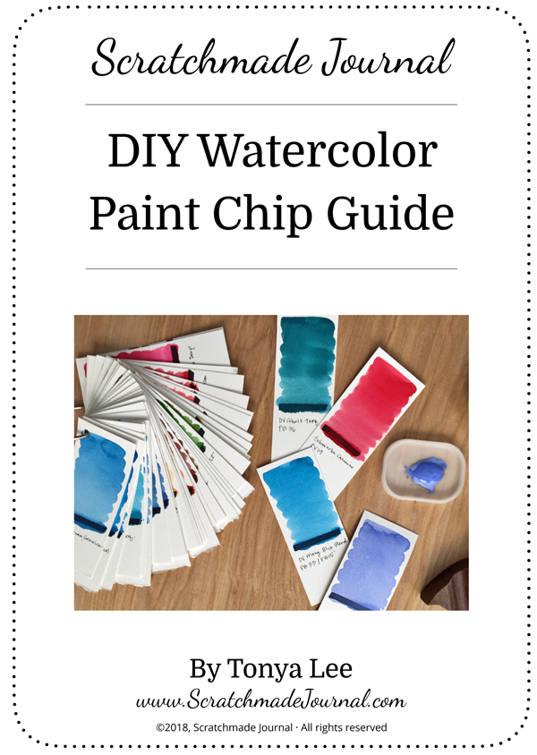 Free Printable: Create your own watercolor swatch cards with my DIY Watercolor Paint Chip Guide - ScratchmadeJournal.com