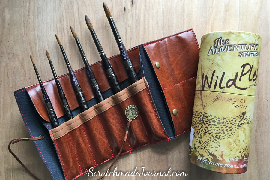 Complete review of Wild Plein travel pocket brush set - ScratchmadeJournal.com