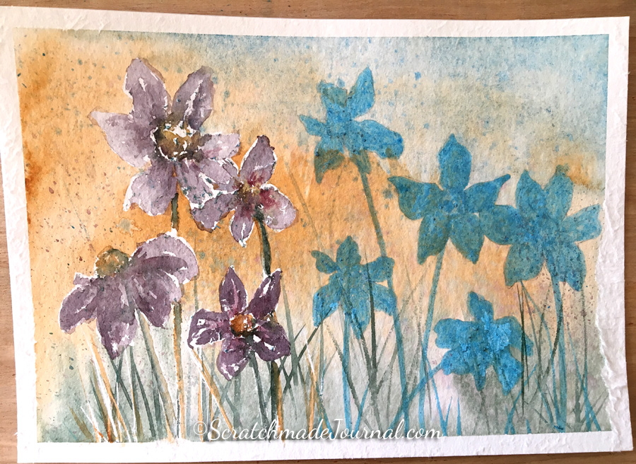 Review of Hahnemuhle Cornwall watercolor paper - ScratchmadeJournal.com