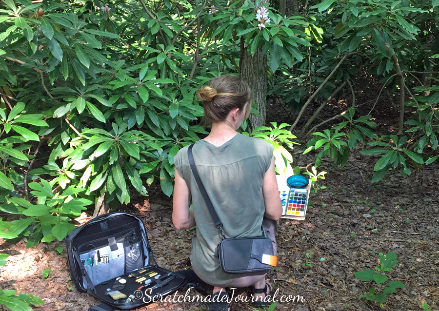 Testing out the Etchr art satchel & field case in the wild.
