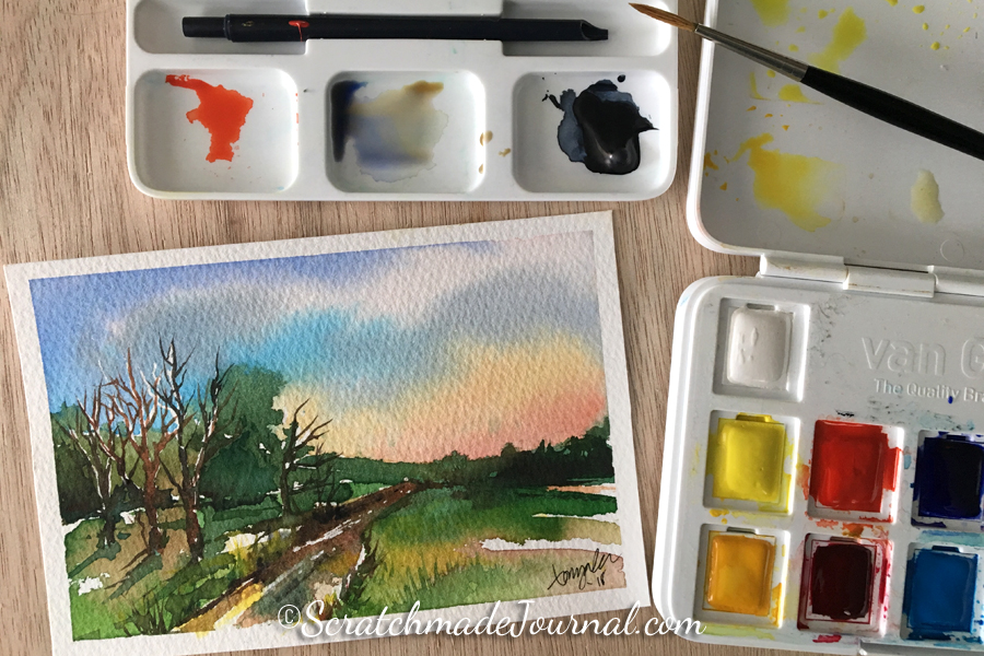 Van Gogh watercolor review & how it compares to other student paint sets - ScratchmadeJournal.com