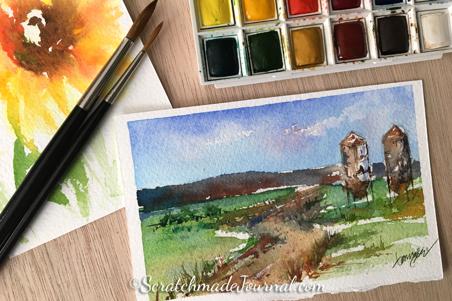 Cotman watercolor review & how it compares to other student paint sets - ScratchmadeJournal.com