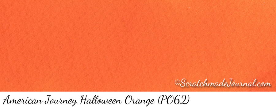 American Journey Halloween Orange PO62 watercolor swatch - ScratchmadeJournal.com