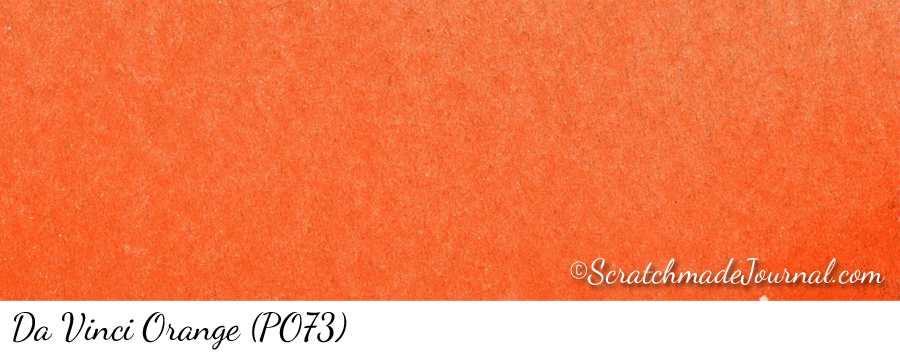 DV Orange PO73 watercolor swatch - ScratchmadeJournal.com