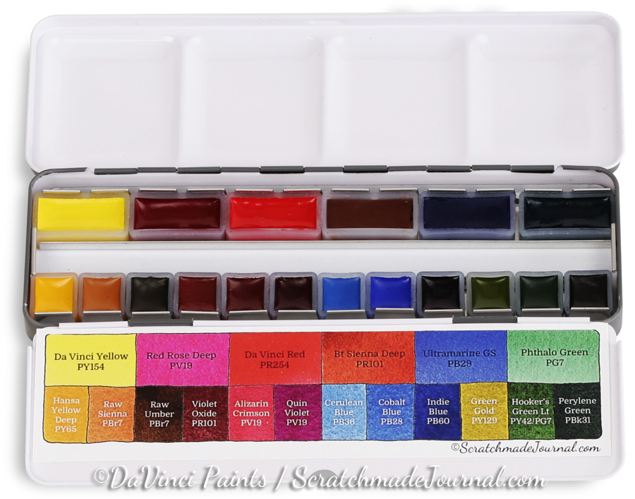 Limited time only! Exclusive savings on the Scratchmade Da Vinci Watercolor Pan Set - ScratchmadeJournal.com