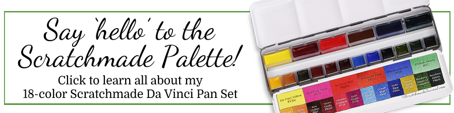 All about the Scratchmade Da Vinci watercolor pan set - ScratchmadeJournal.com